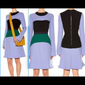 Women'Marni Block Colour Color long Sleeve Dress